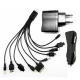 USB ЗУ(220V)+Авто ЗУ+USB кабель 10в1